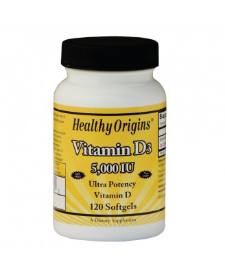 Vitamine D3 5000 IE (120 Softgels) - Healthy Origins
