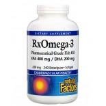 Rx Omega-3 Factors- EPA 400 mg/DHA 200 mg (240 softgels) - Natural Factors