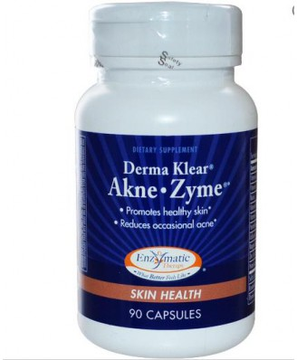 Enzymatic Therapy, Derma Klear Akne • Zime, salud de la piel, 90 cápsulas
