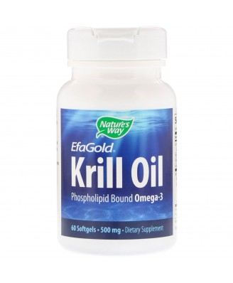 Nature's Way, EfaGold, Krill Oil, 500 mg, 60 Softgels