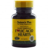 Folic Acid Hearts 400 mcg (90 Tablets) - Nature's Plus