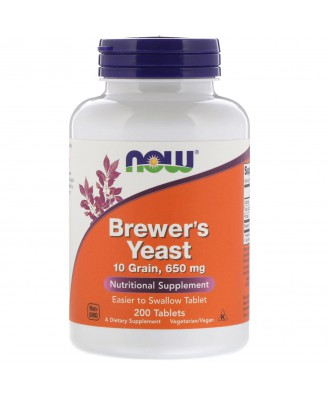 Now Foods, Brewer's Yeast, 650 mg, 200 Tablets