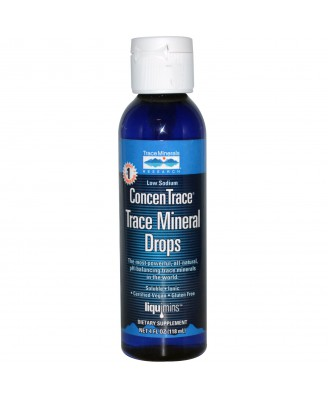 Liquimins, ConcenTrace, Trace Mineral Drops (118 ml) - Trace Minerals Research