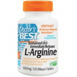 L-Arginine 500 mg (120 Bilayer Tablets ) - Doctor's Best