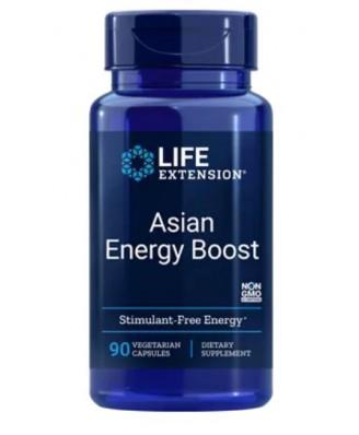 Asian Energy Boost -  90 Cápsulas Vegetarianas – Life Extension
