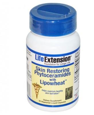 Huidherstellende Phytoceramiden met Lipowheat (30 vegetarische vloeibare Caps) - Life Extension