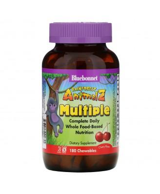 Rainforest Animalz- Whole Food Based Multiple- Natural Grape Flavor (180 chewable tablets) - Bluebonnet Nutrition
