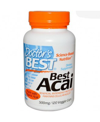 Doctor's Best  - Mejor Acai 500 mg -  120 Caps de Veggie