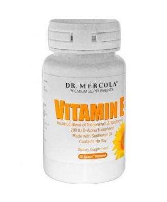 Dr. Mercola, Los suplementos de primera calidad, vitamina E, tocoferoles y tocotrienoles 30 Licaps Cápsulas