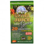 Organic Ultra Juice Green (90 Organic Bi-Layered Tablets) - Nature's Plus