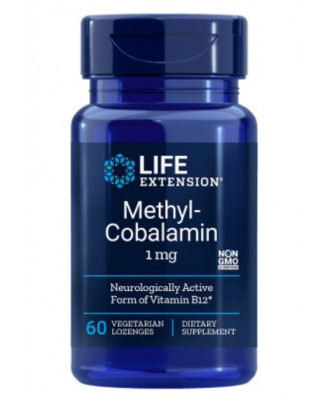 Methylcobalamin 1 mg (60 Veggie Lozenges ) - Life Extension
