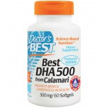 Doctor's Best, Best DHA 500 from Calamari, 500 mg, 60 Softgels