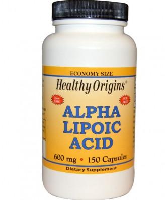 ácido alfa lipoico 600 mg - 150 Cápsulas - Healthy Origins