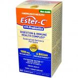 American Health, Ester-C with Probiotics, Digestion & Immune Health Complex, 60 Veggie Tabs