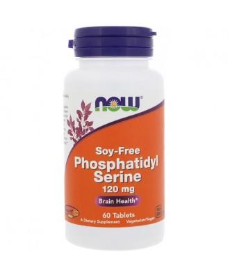 Phosphatidyl Serine- Soy-Free- 120 mg (60 tablets) - Now Foods