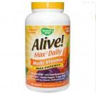 Nature's Way  Alive! Whole Food Energizer Multi vitamina, máxima potencia, sin hierro añadido, 180 comprimidos