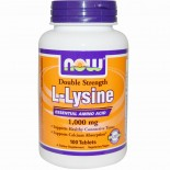 Now Foods, L-Lysine, 1,000 mg, 100 Tablets
