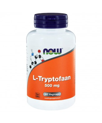 L-Tryptofaan 500 mg (60 vegicaps) - NOW Foods