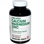 Chelated Calcium Magnesium Zinc (250 tablets) - American Health