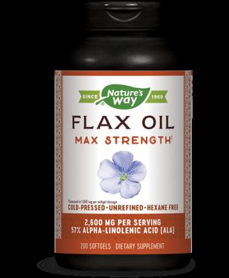EFA Gold hoge potentie vlas olie 1300 mg (200 gelcapsules) - Nature's Way