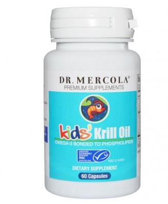 Dr. Mercola, Kids' Krill Oil, 60 Licaps Capsules