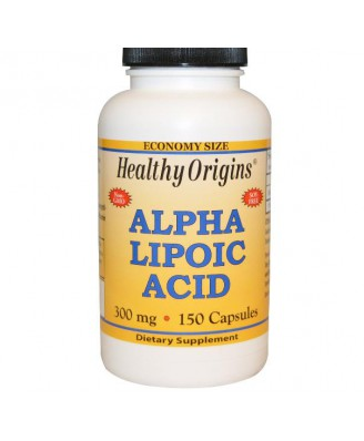 Alfa-liponzuur, 300 mg (150 Capsules) - Healthy Origins