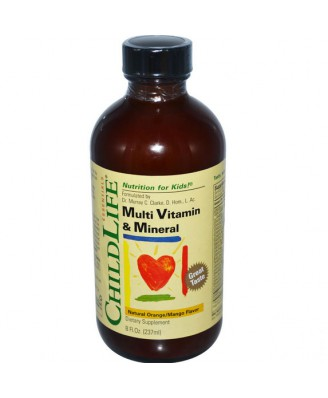 ChildLife Essentials, Multi Vitamin & Mineral Natural Orange/Mango Flavor, 8 fl oz (237 ml)