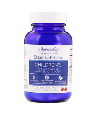Essential-Biotic Children's 5 Billion CFU's 60 Cherry Chewable Tablets - Allergy Research Group