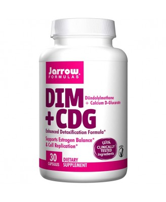 DIM + CDG Enhanced Detoxification Formula (30 Vegetarian Capsules) - Jarrow Formulas