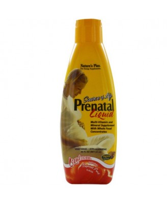 Prenatal Liquid, Natural Tropical Fruit Flavor (887 ml) - Nature's Plus