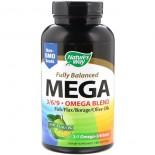 Fuerza máxima Mega 3/6/9 Omega Blend, sabor limón, 1350 mg, 180 cápsulas - Nature's Way