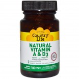Country Life, Natural Vitamin A & D3, 10,000 IU/400 IU, 100 Softgels