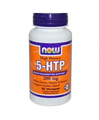 Now Foods, 5-HTP, 200 mg, 60 Vcaps