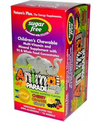 Source of Life Animal - Parade Children's Chewable - Natural Assorted Flavors (90 Chewable Tablets) - Nature's Plus