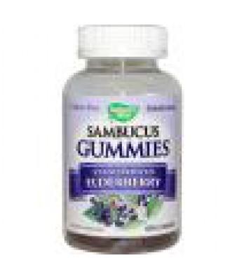 Sambucus Gummies, Standardized Elderberry, 60 Gummies - Nature's Way