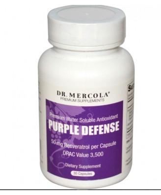 Dr. Mercola - Defensa púrpura - Premium Water Soluble Antioxidante - 30 Cápsulas