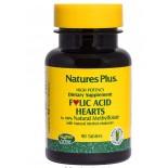 Folic Acid Hearts 400 mcg (90 Tablets) - Nature's Plus