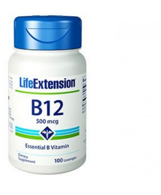 Vitamina B12, 500 Mcg 100 Tabletas - Life Extension