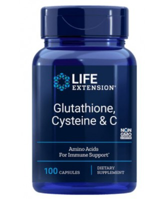 Glutathione Cysteine & C - 100 Vegetarian Capsules - Life Extension