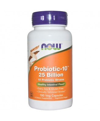 Probiotic 10 - 25 Billion (100 Vegetarian Capsules) - Now Foods