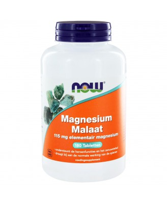 Now Foods, Magnesium Malate, 150 mg, 180 tabletten