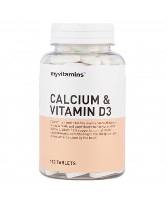 Calcium & Vitamin D3 (180 Tablets) - Myvitamins