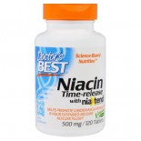 Niacin- Time-Released With Niaxtend 500 mg (120 Tablets) - Doctor's Best