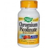 Chromium Picolinate 200 mcg - 100 cápsulas - Nature's Way