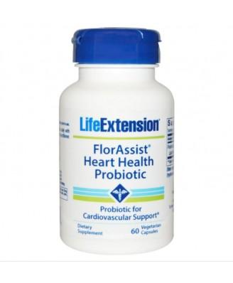 FlorAssist Probiótico Salud Cardiovascular - 60 cápsulas vegetarianas - Life extension