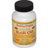 Healthy Origins, Krill Oil, Natural Vanilla Flavor, 500 mg, 60 Softgels