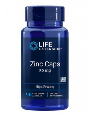 Zinc Caps High Potency 50 mg (90 Veggie Caps ) - Life Extension