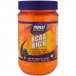 BCAA Big 6- Natural Grape Flavor (600 gram) - Now Foods