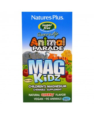 MagKidz, Children's Magnesium, Natural Cherry Flavor (90 Animals) - Nature's Plus