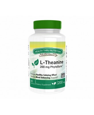 L-Theanine (as PhytoSure™) 200 mg (non-GMO) (60 Vegicaps) - Health Thru Nutrition